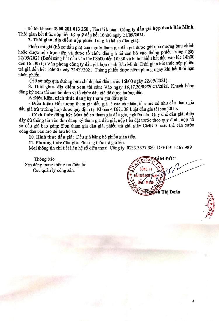 Ngày 23/9/2021, đấu giá tang vật xử lý vi phạm hành chính bị tịch thu tại tỉnh Quảng Trị ảnh 6