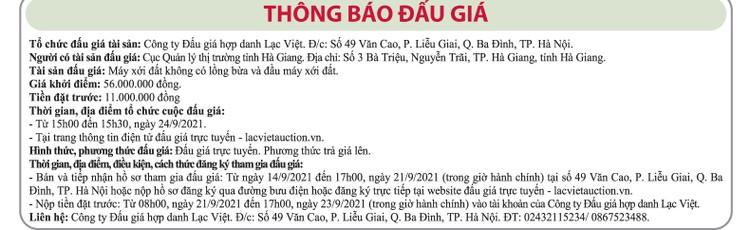 Ngày 24/9/2021, đấu giá máy xới đất tại tỉnh Hà Giang ảnh 1