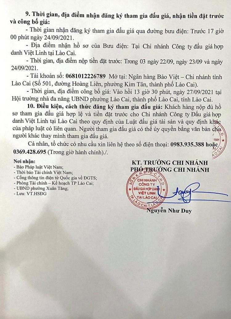 Ngày 27/9/2021, đấu giá quyền sử dụng 41 thửa đất tại thành phố Lào Cai, tỉnh Lào Cai ảnh 3