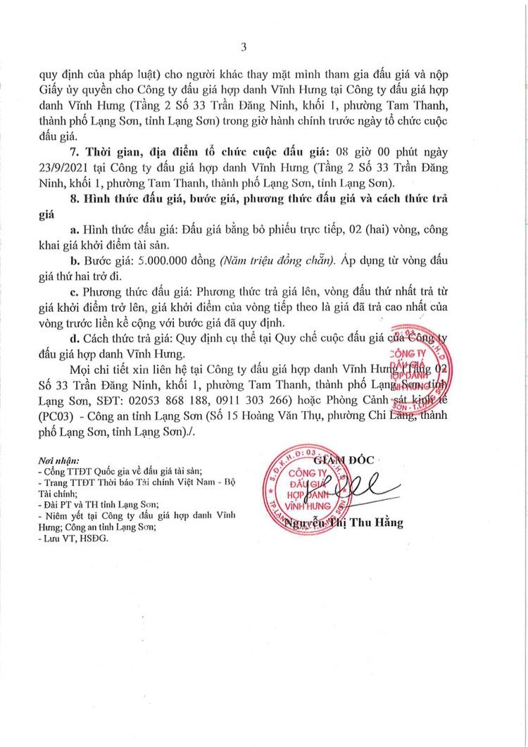 Ngày 23/9/2021, đấu giá 01 xe ô tô KIA tại tỉnh Lạng Sơn ảnh 5