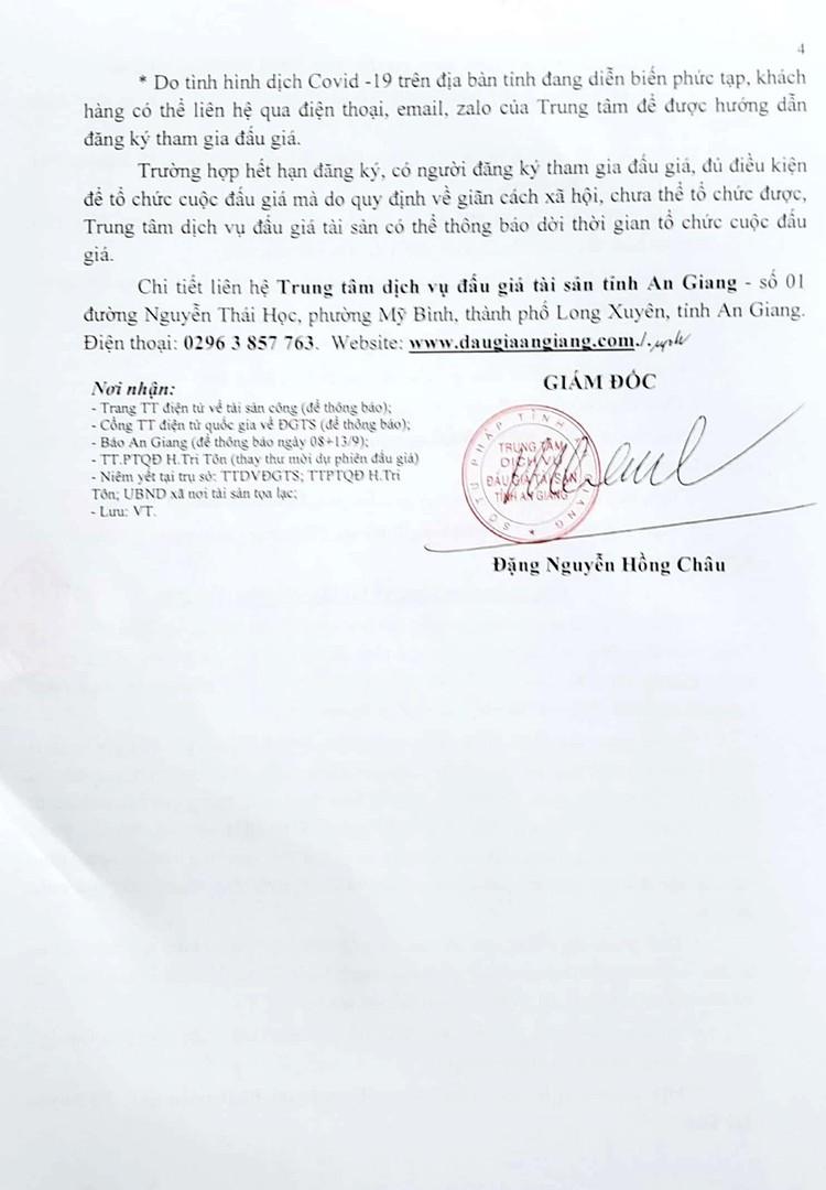 Ngày 7/10/2021, đấu giá cho thuê quyền sử dụng 5 lô đất tại huyện Tri Tôn, tỉnh An Giang ảnh 6