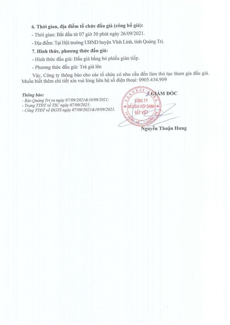 Ngày 26/9/2021, đấu giá quyền sử 21 lô đất tại huyện Vĩnh Linh, tỉnh Quảng Trị ảnh 3