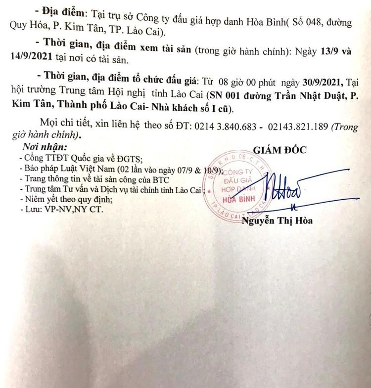 Ngày 30/9/2021, đấu giá quyền sử dụng 52. 872 m2 đất tại thành phố Lào Cai, tỉnh Lào Cai ảnh 5
