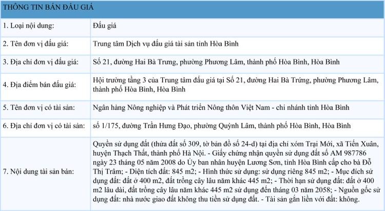 Ngày 29/9/2021, đấu giá quyền sử dụng đất tại huyện Thạch Thất, Hà Nội ảnh 1
