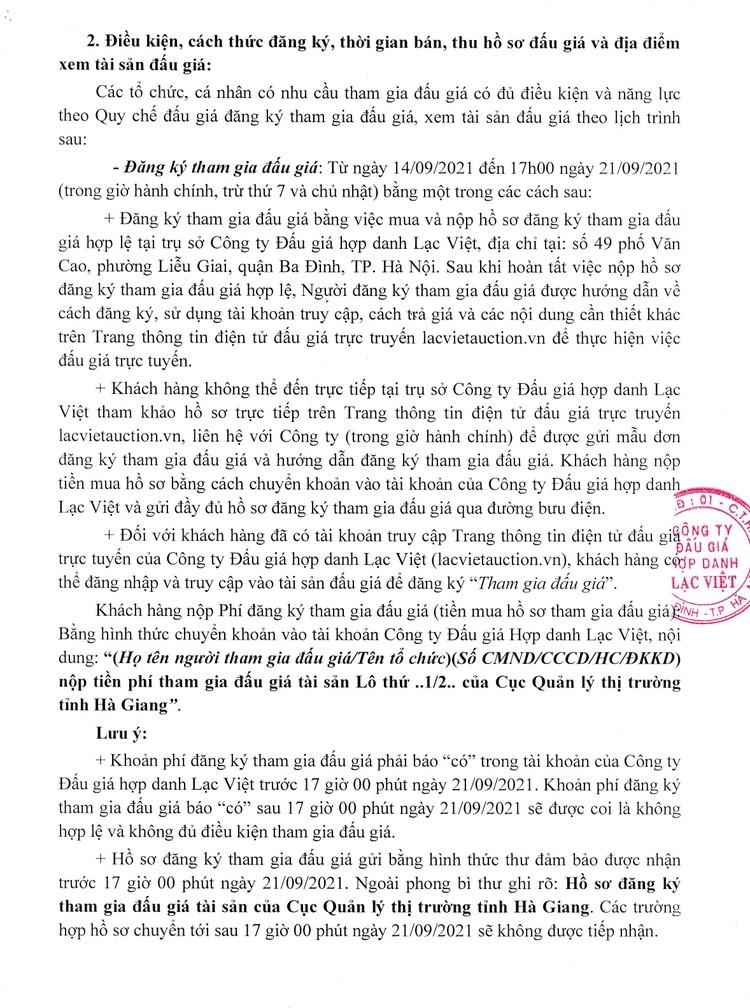 Ngày 24/9/2021, đấu giá tài sản bị tịch thu do vi phạm hành chính tại tỉnh Hà Giang ảnh 3