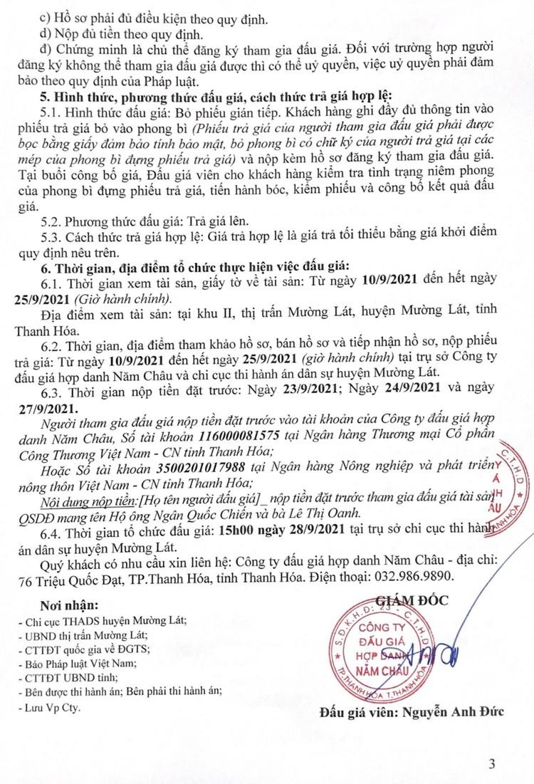 Ngày 28/9/2021, đấu giá quyền sử dụng 71,1 m2 đất tại huyện Mường Lát, tỉnh Thanh Hóa ảnh 4