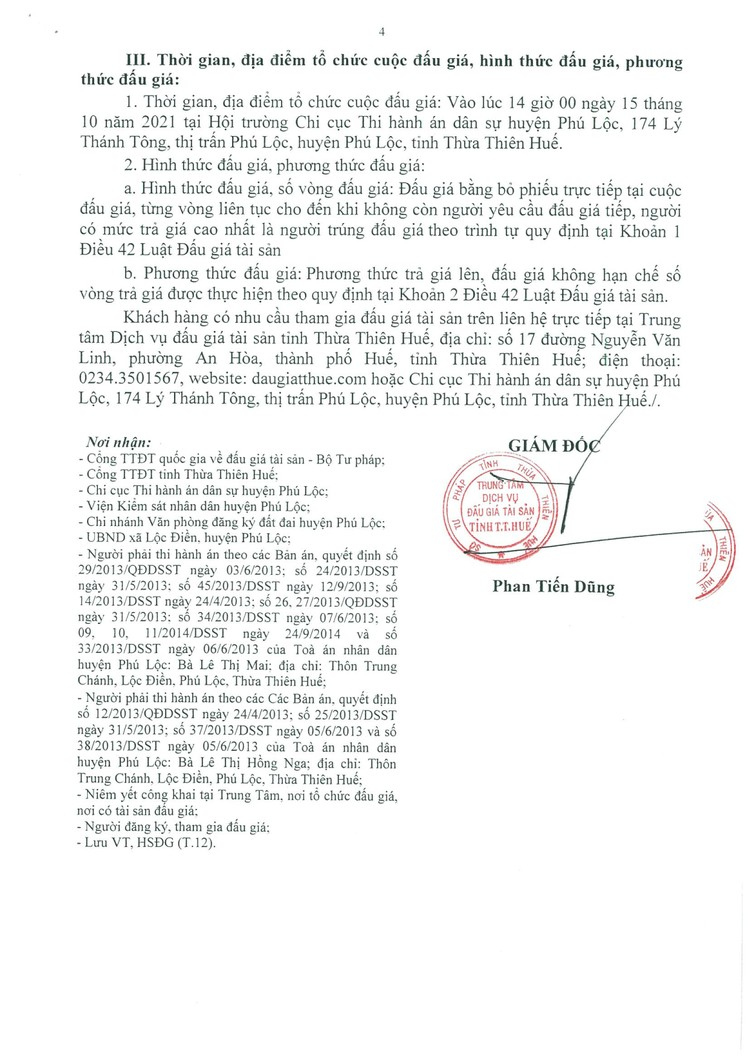 Ngày 15/10/2021, đấu giá quyền sử dụng 307 m2 đất tại huyện Phú Lộc, tỉnh Thừa Thiên Huế ảnh 5