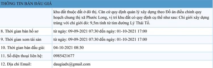 Ngày 4/10/2021, đấu giá quyền sử dụng 04 lô đất tại thị xã Phước Long, tỉnh Bình Phước ảnh 2