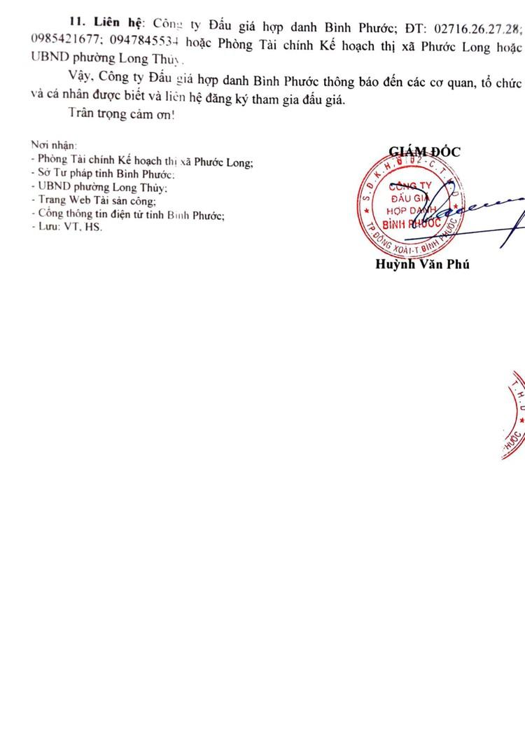 Ngày 4/10/2021, đấu giá quyền sử dụng 04 lô đất tại thị xã Phước Long, tỉnh Bình Phước ảnh 5