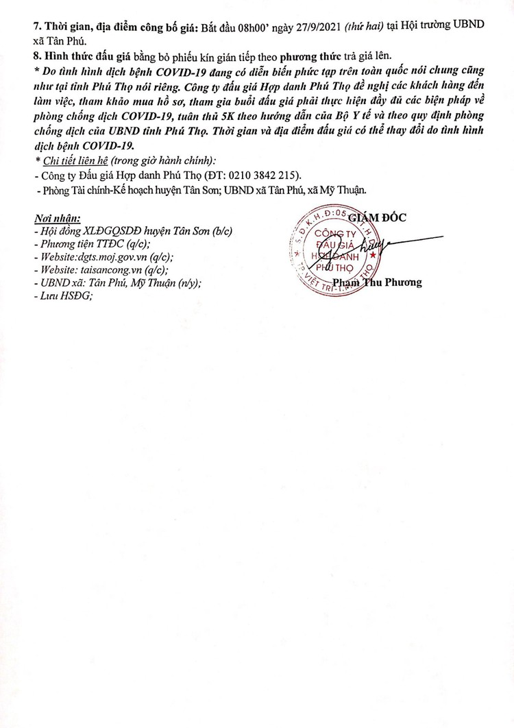 Ngày 27/9/2021, đấu giá quyền sử dụng 9 ô đất tại huyện Tân Sơn, tỉnh Phú Thọ ảnh 3