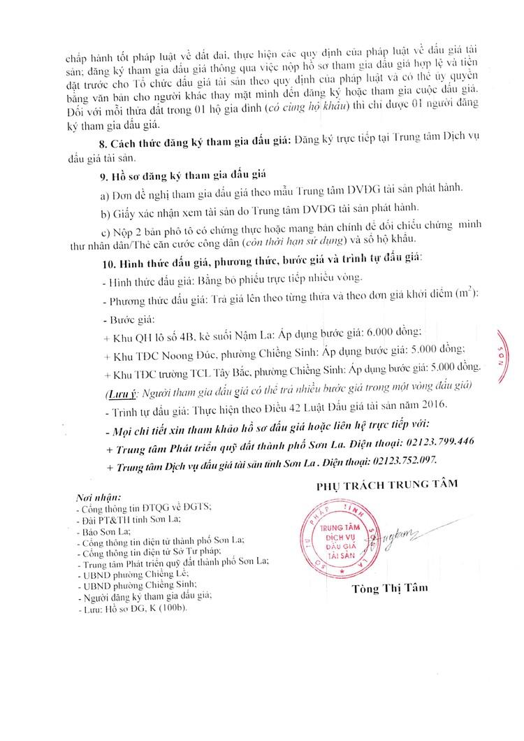 Ngày 1/10/2021, đấu giá quyền sử dụng 27 thửa đất tại thành phố Sơn La, tỉnh Sơn La ảnh 5