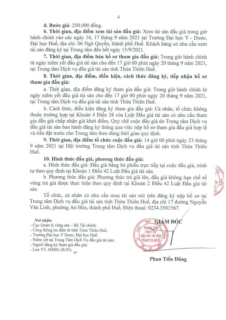 Ngày 23/9/2021, đấu giá thanh lý tài sản tại tỉnh Thừa Thiên Huế ảnh 5