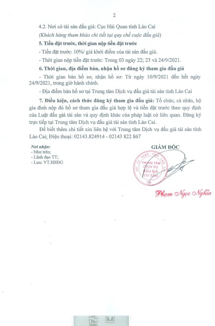 Ngày 27/9/2021, đấu giá 2 lô bột kẽm oxit tại tỉnh Lào Cai ảnh 3