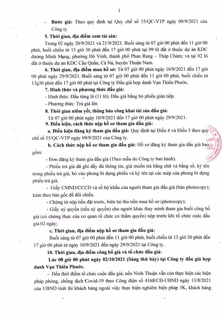 Ngày 2/10/2021, đấu giá quyền sử dụng 09 lô đất tại huyện Thuận Nam, tỉnh Ninh Thuận ảnh 4