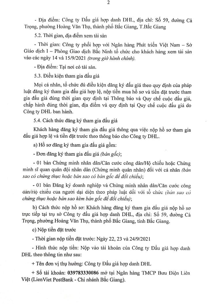 Ngày 27/9/2021, đấu giá cho thuê mặt bằng tại tỉnh Bắc Ninh ảnh 3