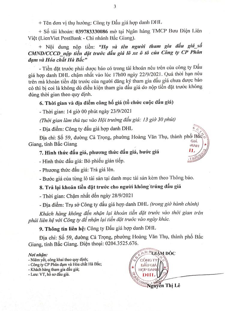 Ngày 23/9/2021, đấu giá 4 lô xe ô tô đã qua sử dụng tại tỉnh Bắc Giang ảnh 4
