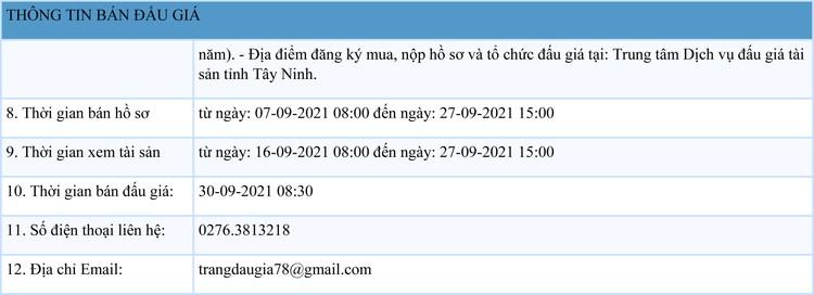 Ngày 30/9/2021, đấu giá vật tư thiết bị phế liệu tại tỉnh Tây Ninh ảnh 2