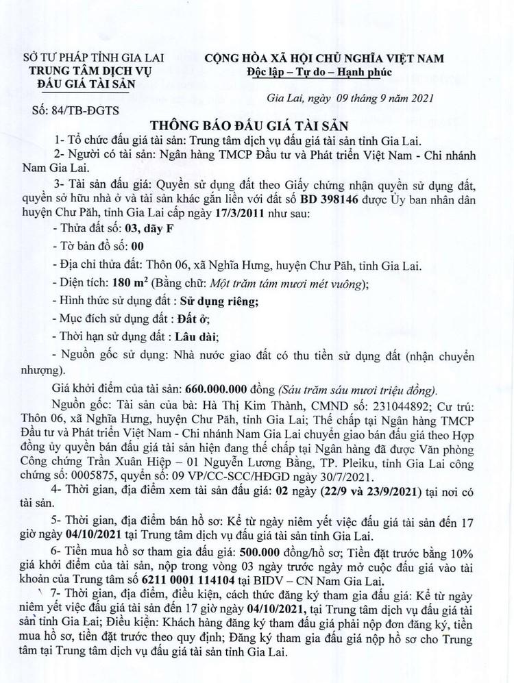 Ngày 7/10/2021, đấu giá quyền sử dụng đất tại huyện Chư Păh, tỉnh Gia Lai ảnh 3