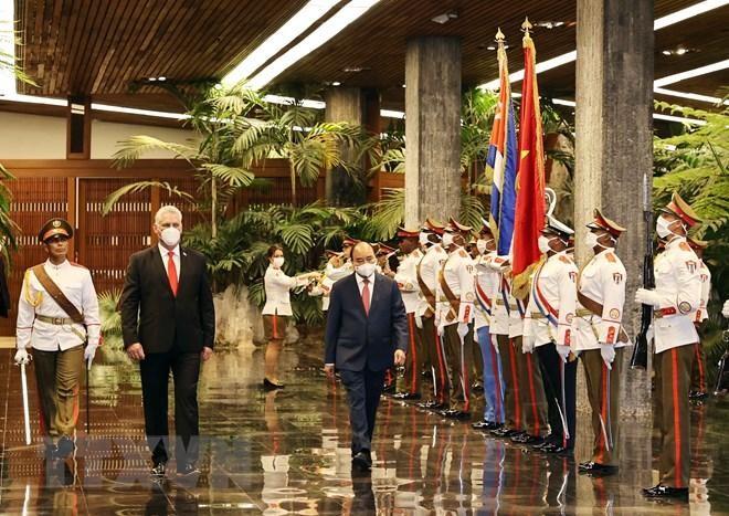 Chủ tịch Cuba chủ trì Lễ đón Chủ tịch nước Nguyễn Xuân Phúc ảnh 1