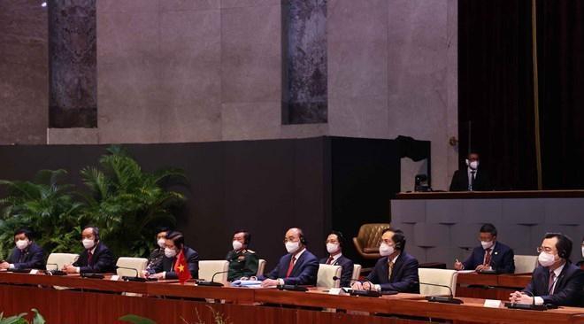 Chủ tịch Cuba chủ trì Lễ đón Chủ tịch nước Nguyễn Xuân Phúc ảnh 4
