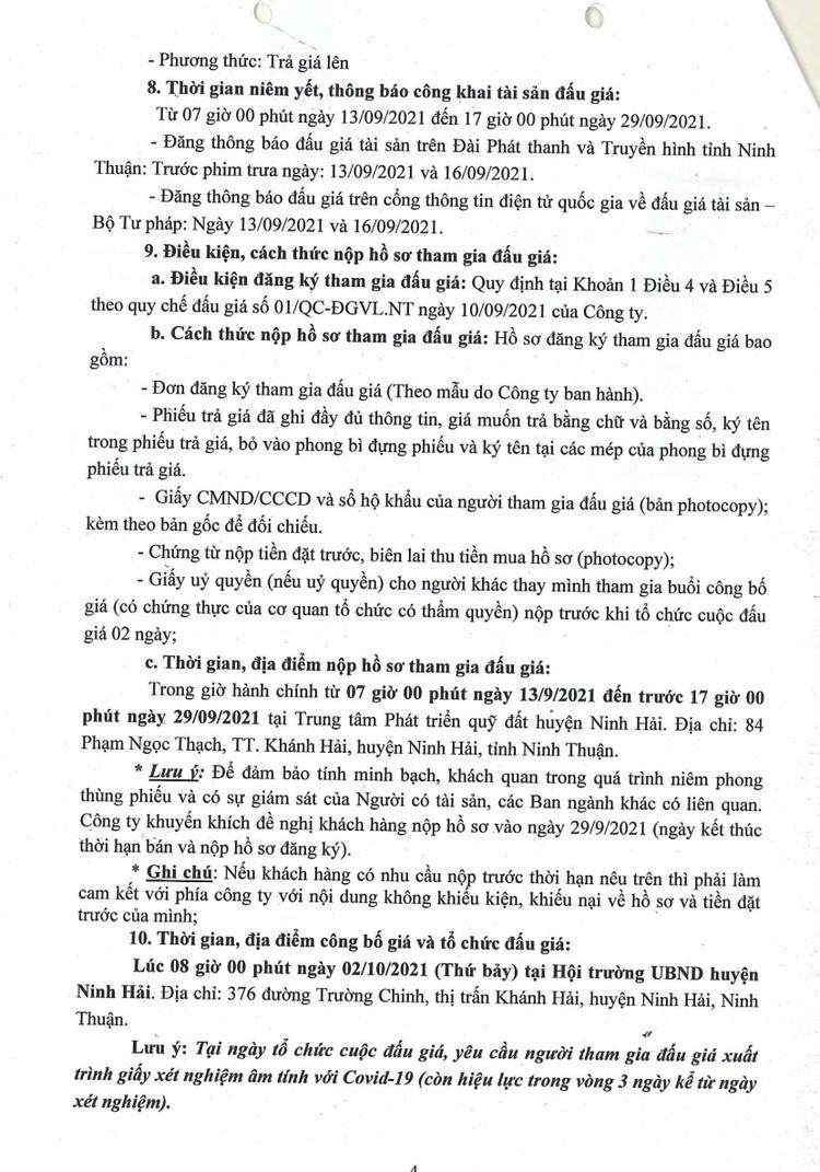 Ngày 2/10/2021, đấu giá quyền sử dụng 27 lô đất tại huyện Ninh Hải, tỉnh Ninh Thuận ảnh 5