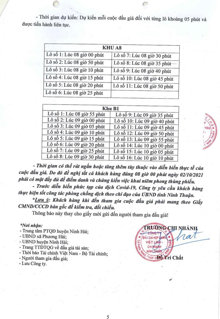 Ngày 2/10/2021, đấu giá quyền sử dụng 27 lô đất tại huyện Ninh Hải, tỉnh Ninh Thuận ảnh 6