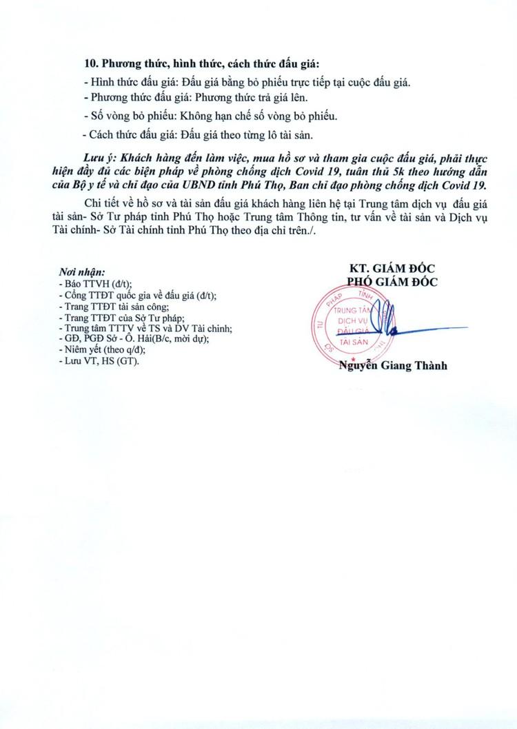 Ngày 25/9/2021, đấu giá 3 lô xe ô tô thanh lý tại tỉnh Phú Thọ ảnh 4
