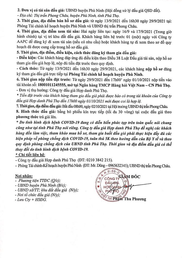 Ngày 2/10/2021, đấu giá quyền sử dụng 39 ô đất tại huyện Phù Ninh, tỉnh Phú Thọ ảnh 3