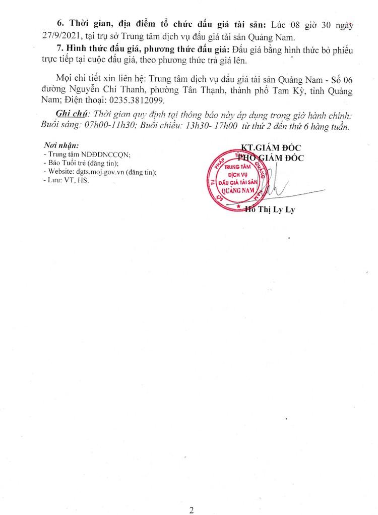 Ngày 27/9/2021, đấu giá xe ô tô Mitsubishi tại tỉnh Quảng Nam ảnh 3