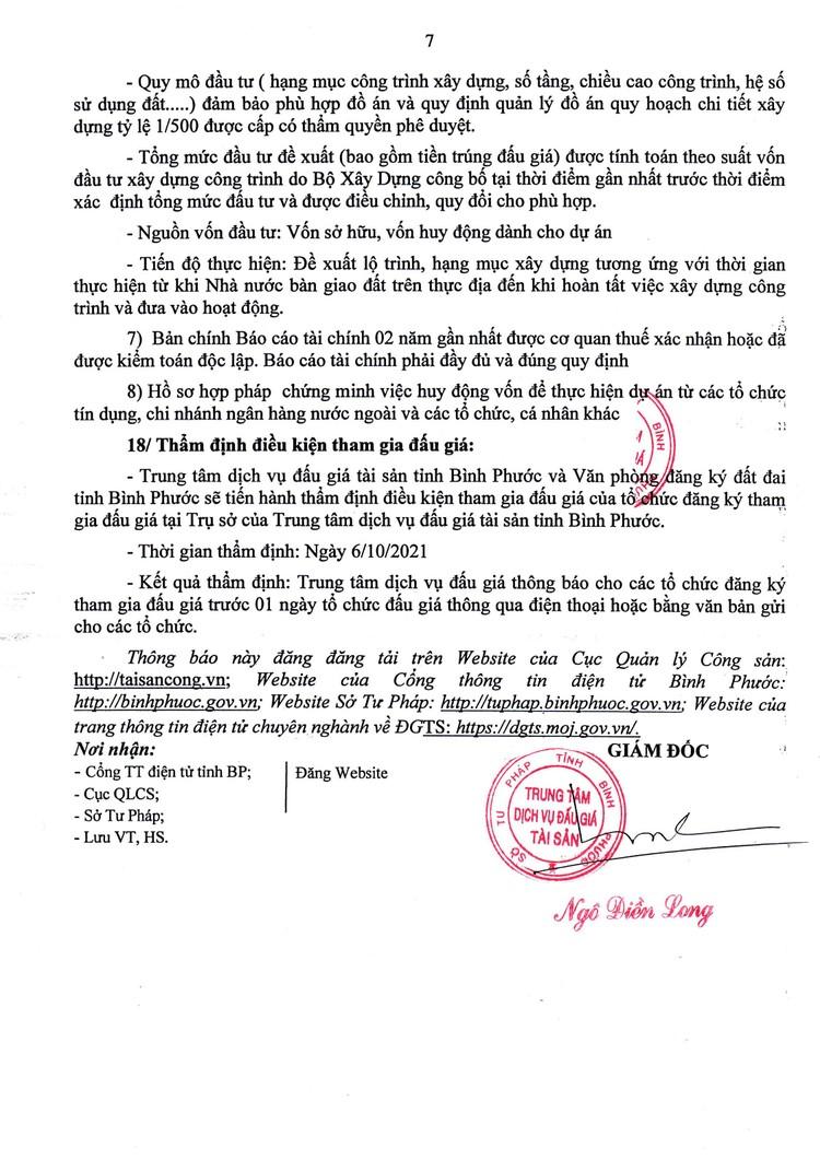 Ngày 8/10/2021, đấu giá quyền sử dụng 84.034,3 m2 đất tại Khu công nghiệp Đồng Xoài I, tỉnh Bình Phước ảnh 8