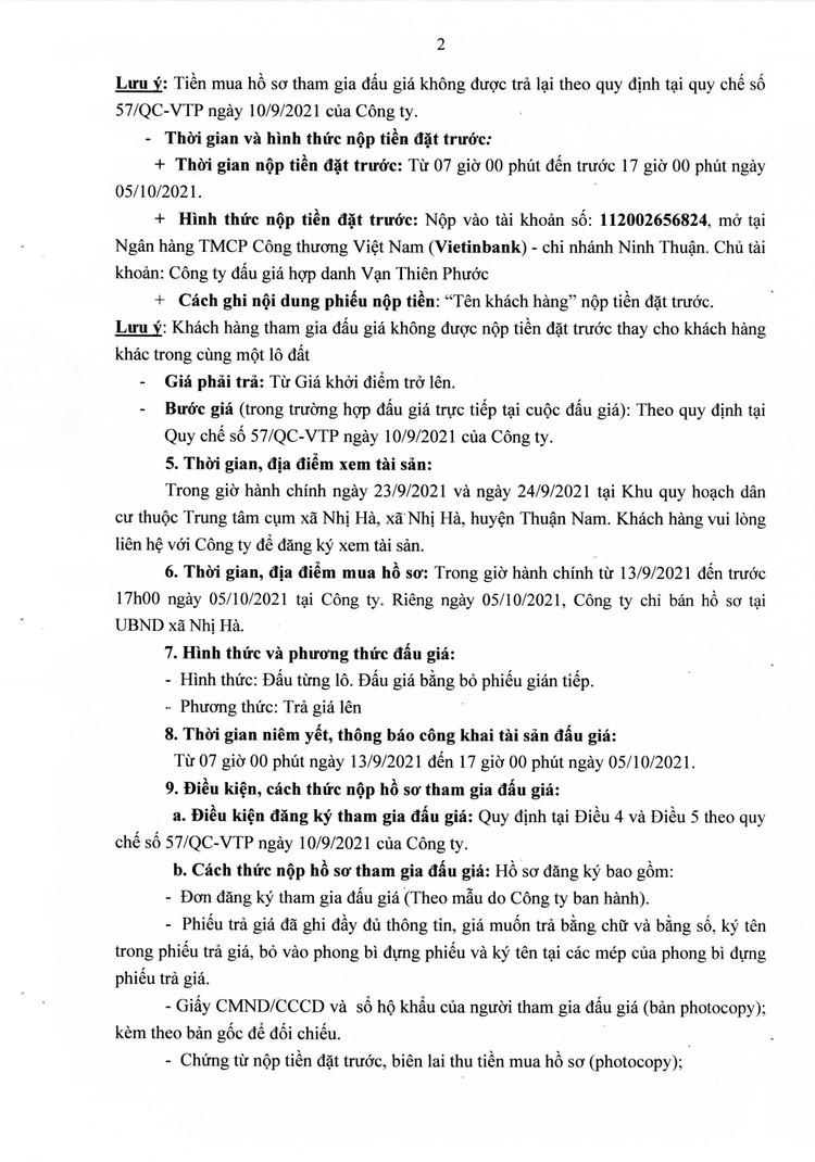 Ngày 8/10/2021, đấu giá quyền sử dụng 6 lô đất tại huyện Thuận Nam, tỉnh Ninh Thuận ảnh 3