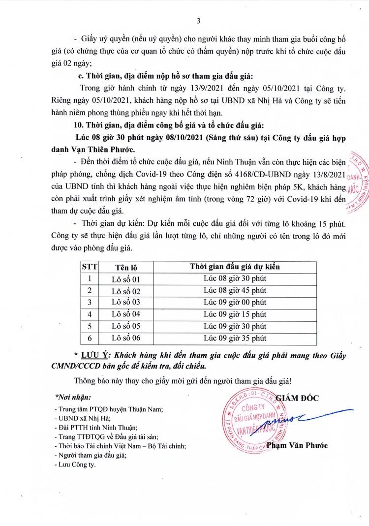 Ngày 8/10/2021, đấu giá quyền sử dụng 6 lô đất tại huyện Thuận Nam, tỉnh Ninh Thuận ảnh 4