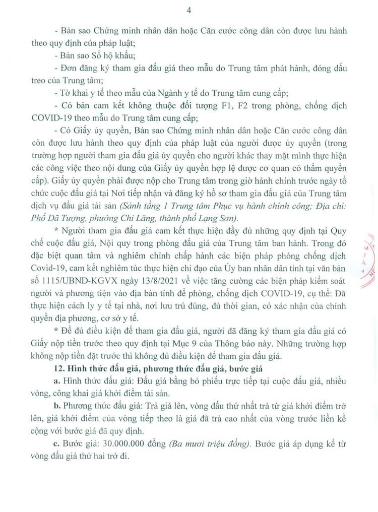 Ngày 5/10/2021, đấu giá quyền sử dụng 24 ô đất tại thành phố Lạng Sơn, tỉnh Lạng Sơn ảnh 5