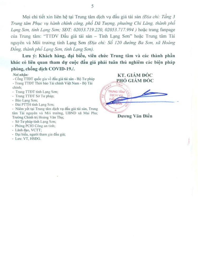 Ngày 5/10/2021, đấu giá quyền sử dụng 24 ô đất tại thành phố Lạng Sơn, tỉnh Lạng Sơn ảnh 6