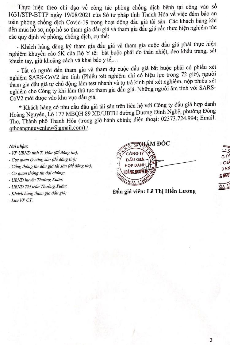 Ngày 4/10/2021, đấu giá quyền sử dụng 10 lô đất tại huyện Thường Xuân, tỉnh Thanh Hóa ảnh 4