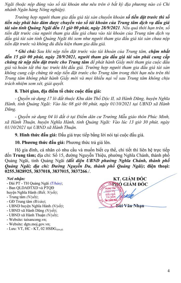 Ngày 1/10/2021, đấu giá quyền sử dụng 17 lô đất tại huyện Nghĩa Hành, tỉnh Quảng Ngãi ảnh 5