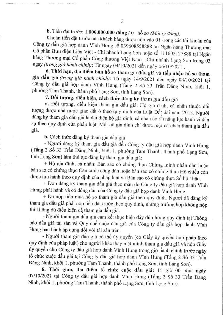 Ngày 7/10/2021, đấu giá quyền sử dụng đất tại thành phố Lạng Sơn, tỉnh Lạng Sơn ảnh 5