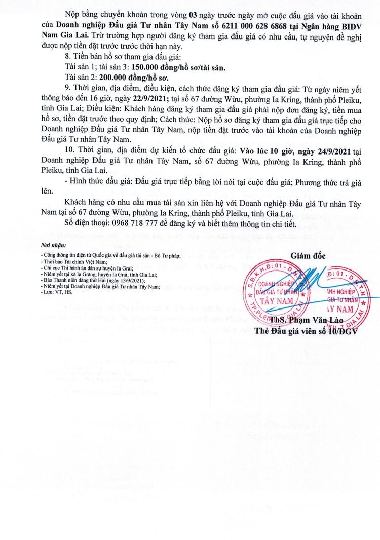 Ngày 24/9/2021, đấu giá quyền sử dụng đất tại huyện Ia Grai, tỉnh Gia Lai ảnh 4