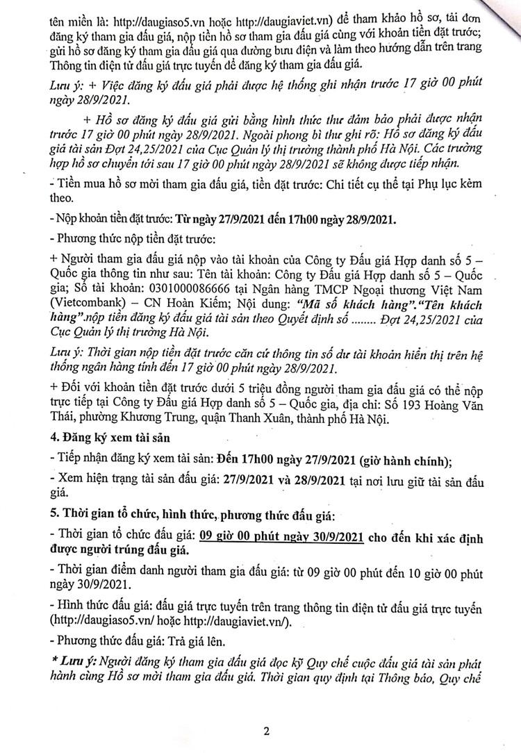 Ngày 30/9/2021, đấu giá hàng hóa các loại bị tịch thu tại Hà Nội ảnh 4