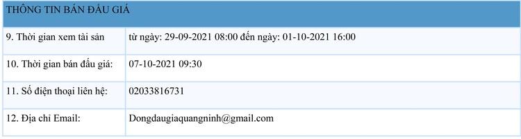 Ngày 7/10/2021, đấu giá quyền sử dụng đất tại thành phố Cẩm Phả, tỉnh Quảng Ninh ảnh 2