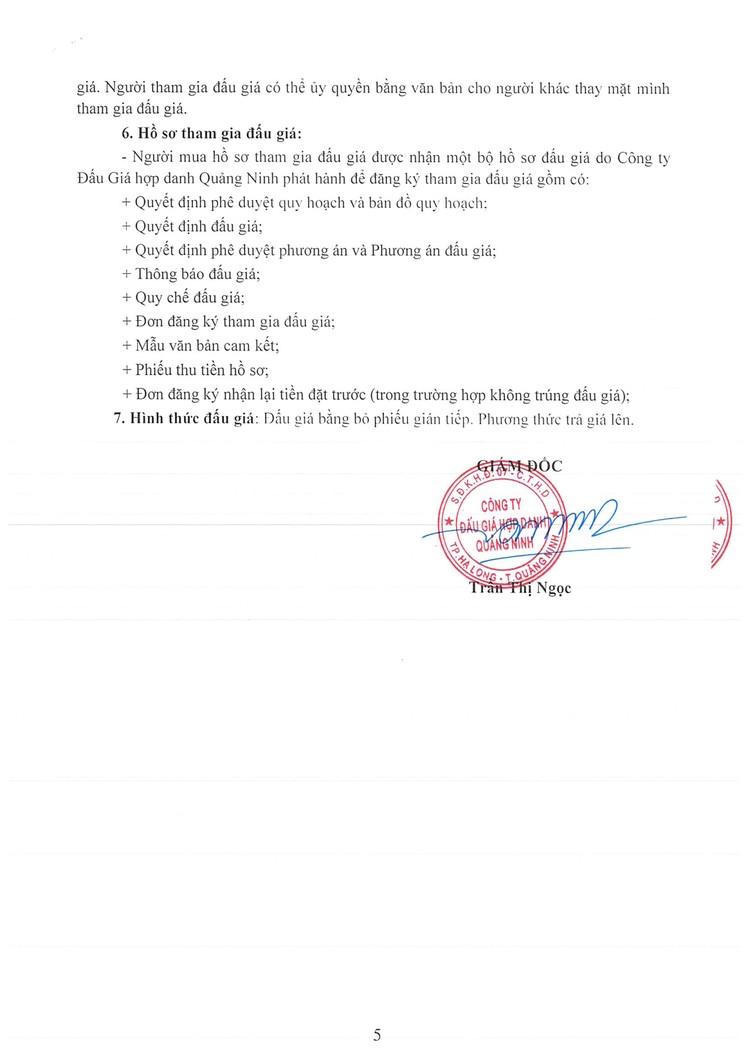 Ngày 7/10/2021, đấu giá quyền sử dụng đất tại thành phố Cẩm Phả, tỉnh Quảng Ninh ảnh 7