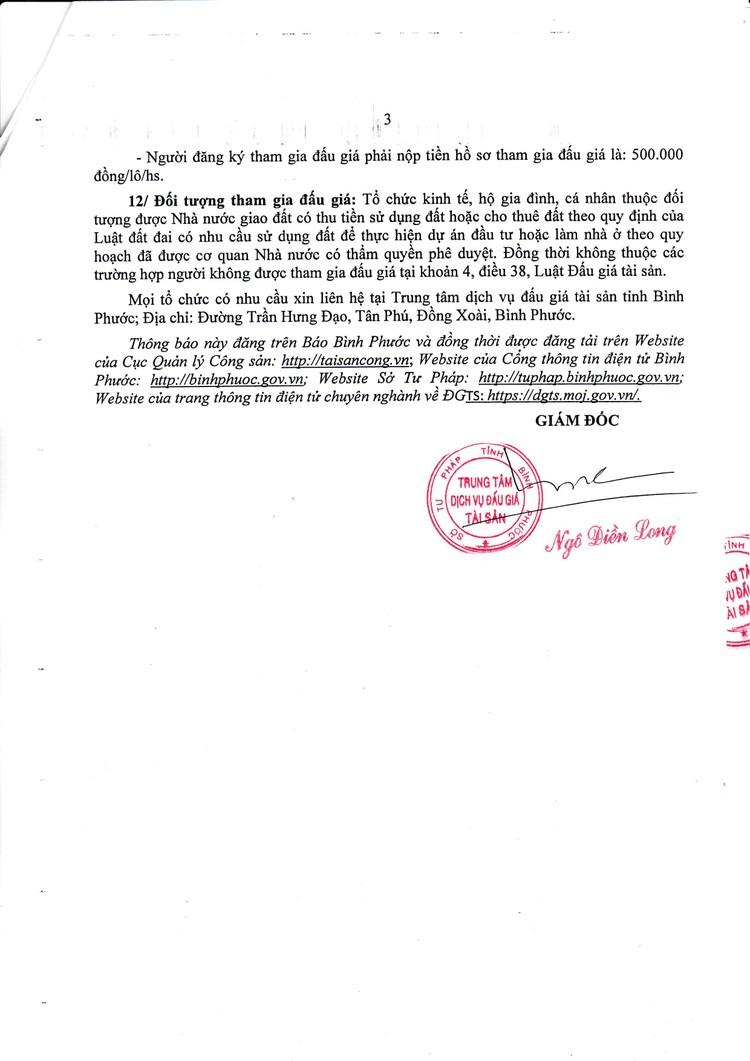 Ngày 25/10/2021, đấu giá quyền sử dụng 19 lô đất tại huyện Hớn Quản, tỉnh Bình Phước ảnh 4