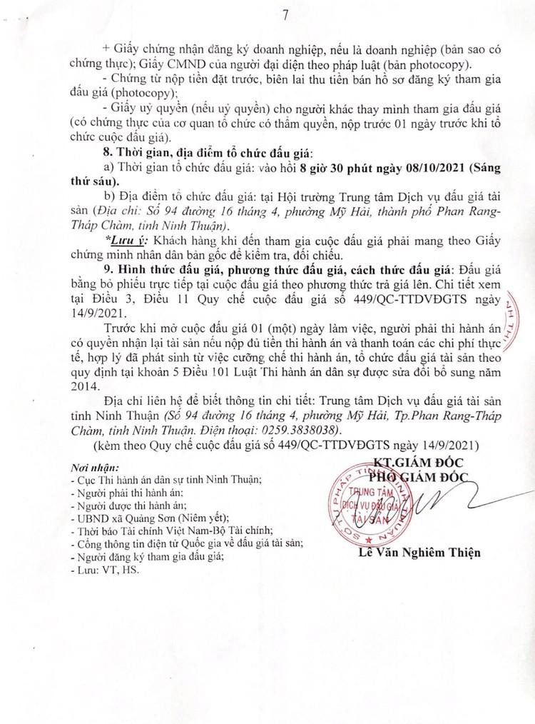 Ngày 8/10/2021, đấu giá giá trị lợi thế quyền thuê 56.741 m2 đất tại huyện Ninh Sơn, Ninh Thuận ảnh 9