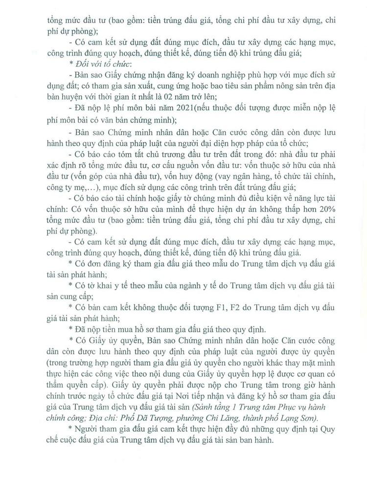 Ngày 14/10/2021, đấu giá quyền sử dụng đất tại huyện Văn Quan, tỉnh Lạng Sơn ảnh 6
