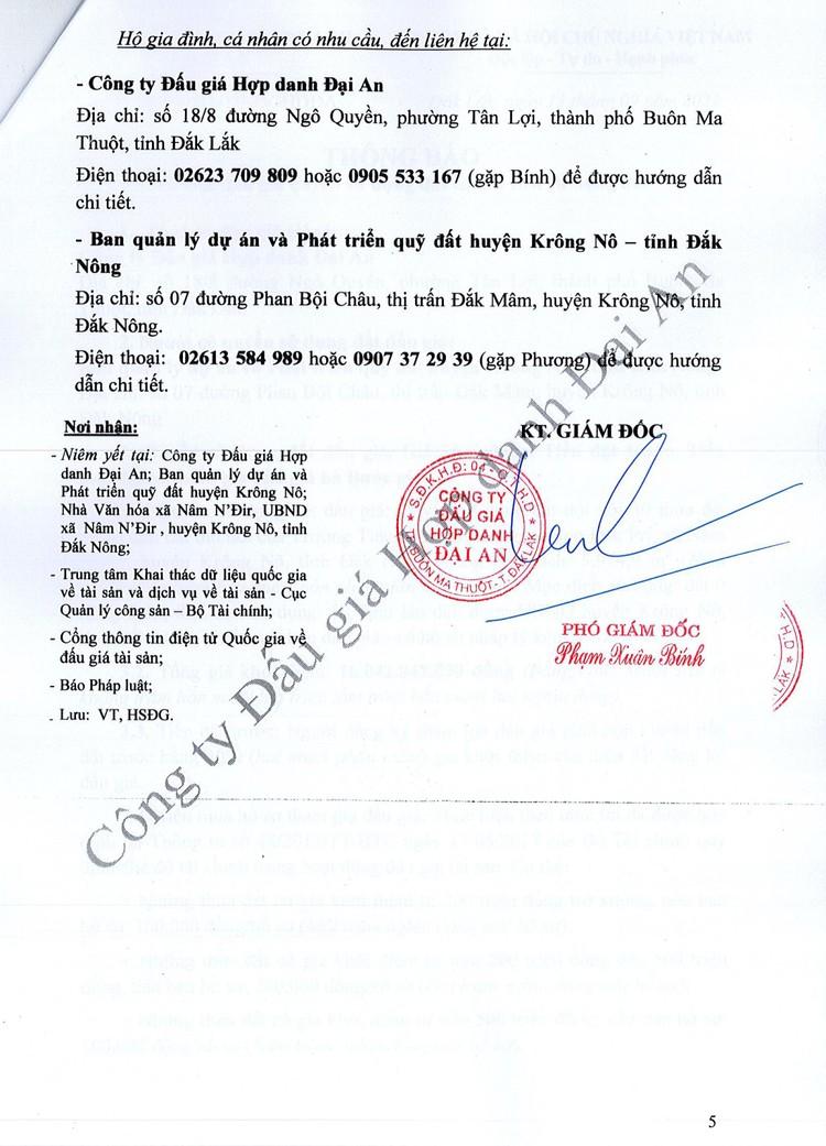 Ngày 7/10/2021, đấu giá quyền sử dụng đất tại huyện Krông Nô, tỉnh Đắk Nông ảnh 7