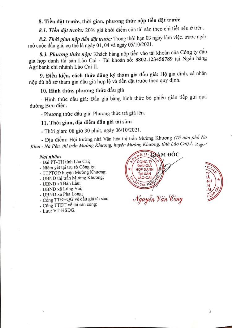 Ngày 6/10/2021, đấu giá quyền sử dụng đất tại huyện Mường Khương, tỉnh Lào Cai ảnh 5