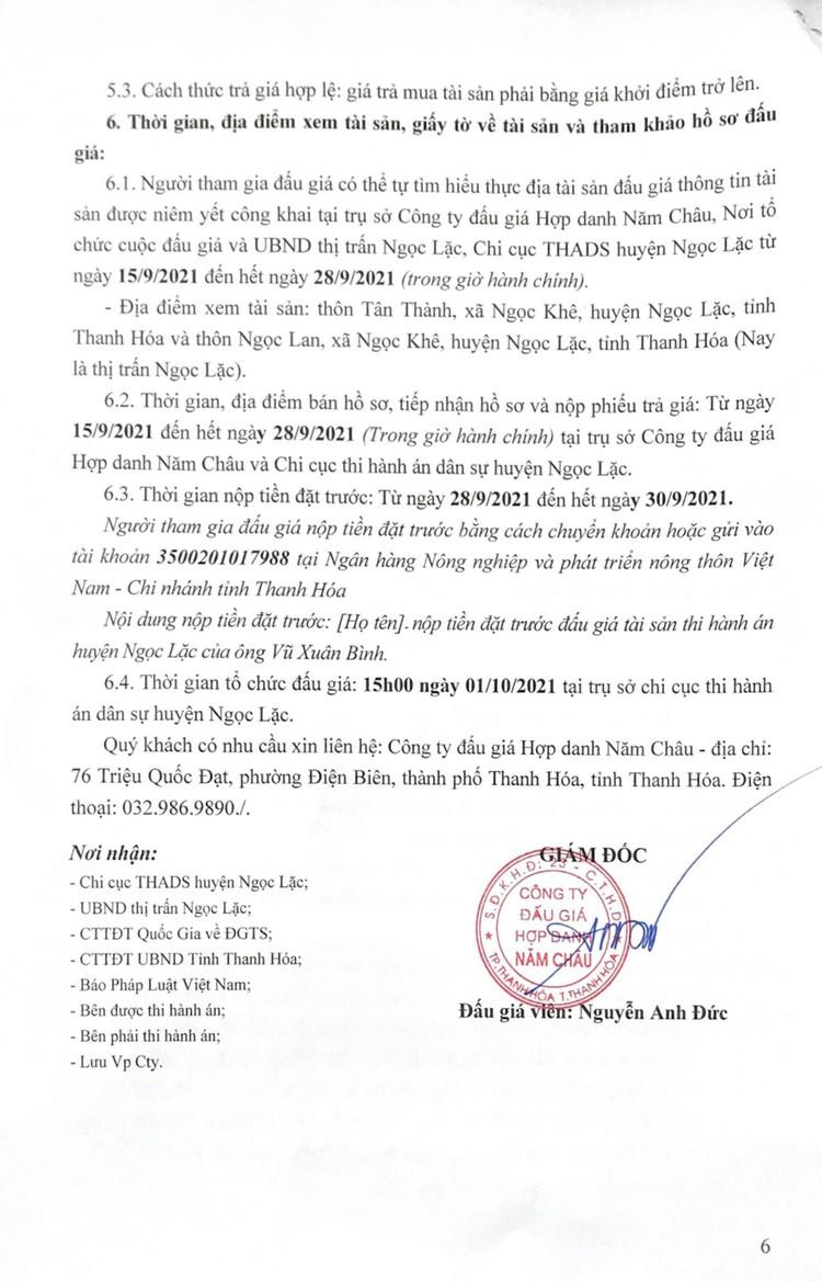Ngày 1/10/2021, đấu giá toàn bộ hạng mục công trình tài sản trên đất tại tỉnh Thanh Hóa ảnh 8