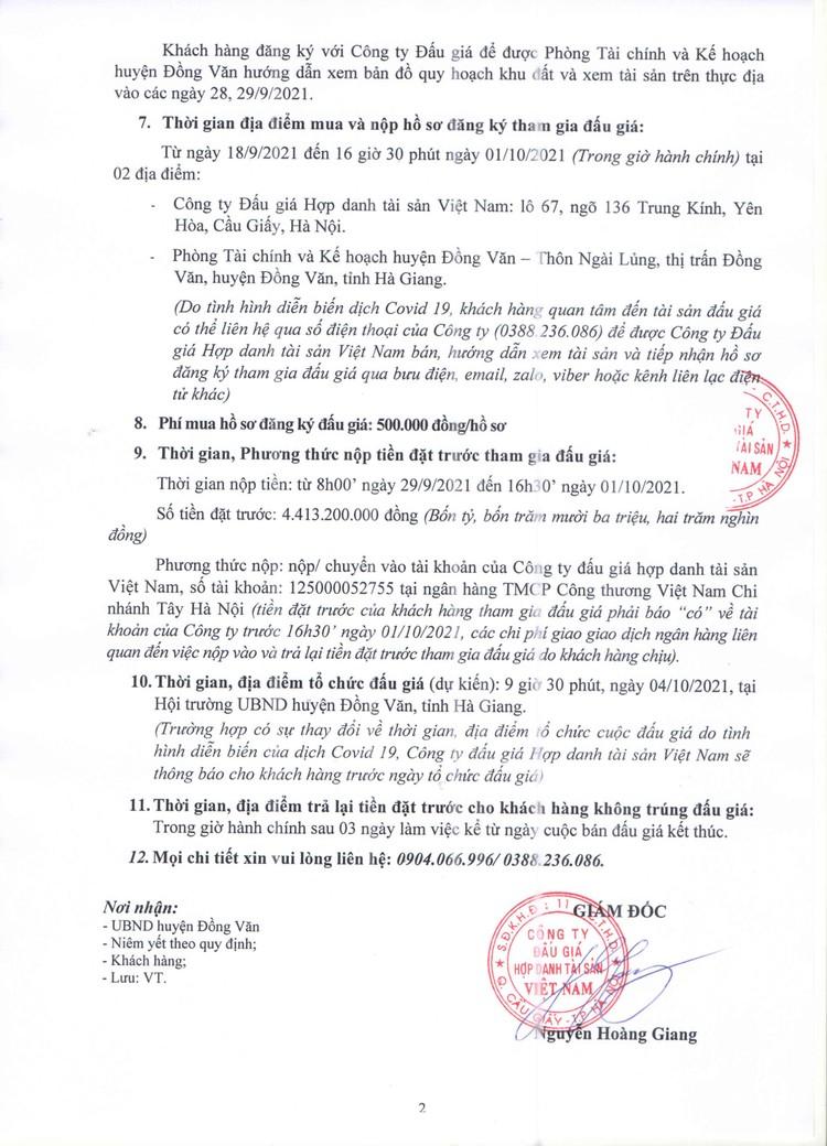 Ngày 4/10/2021, đấu giá quyền sử dụng 943,3 m2 đất tại huyện Đồng Văn, tỉnh Hà Giang ảnh 3