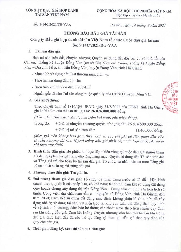 Ngày 5/10/2021, đấu giá quyền sử dụng 1.237,4 m2 đất tại huyện Đồng Văn, tỉnh Hà Giang ảnh 2