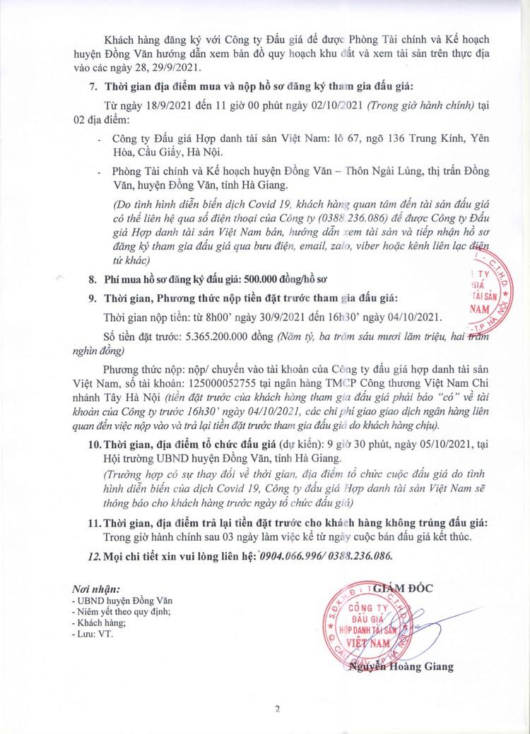 Ngày 5/10/2021, đấu giá quyền sử dụng 1.237,4 m2 đất tại huyện Đồng Văn, tỉnh Hà Giang ảnh 3